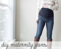 pocketful of pretty: DIY Maternity Jeans