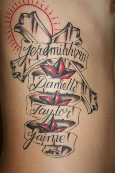 Cross Tattoo Designs With Names Cross And Names Tattoo By Malitia