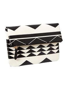 Womens Printed Foldover Clutch