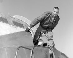 Neil Armstrong in NASA Ames' Bell X-14 Aircraft