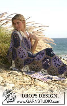 """DROPS crochet blanket in double thread """"Alpaca"""" ~ DROPS Design"""