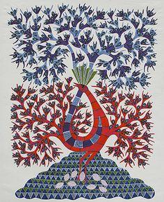 24-Hour Auction: Indian Folk & Tribal Art & Objects - Ram Singh Urveti, Untitled, 2011