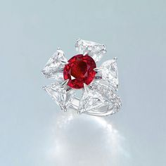 A gorgeous Edmond Chin ruby and diamond ring  Image: Courtesy of Christie's