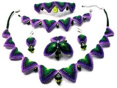 Tutorial - Collar-Style Necklace, Bracelet, Earring, Brooch and Hairpin Set with Seed Beads, Glass Beads and Pearls - Fire Mountain Gems and Beads