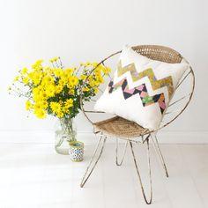 Ziggy | Kantha Linen Cushion | The Block Shop - Channel 9