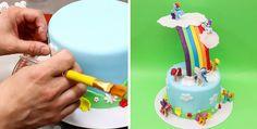 Rainbow Pony Dash Cake Design - How To by CakesStepbyStep