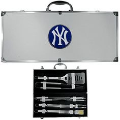 MLB New York Yankees 8 Piece BBQ Set wCase ** This is an Amazon Affiliate link. See this great product.