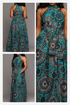 Sleeveless Geometric Print Women's Maxi Dress Source by dionnehopkins maxi dresses African Fashion Ankara, Latest African Fashion Dresses, African Print Fashion, Long African Dresses, African Print Dresses, Kitenge Designs Dresses, Chitenge Dresses, Funky Dresses, African Attire