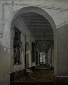 Soportales  #art #painting Oleo sobre Lienzo http://ricardorenedo.gallery/