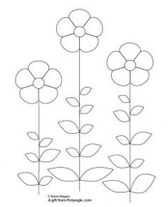 Primitive Floral Hand Embroidery Pattern suitable for beginners to hand embroidery for readers of Pintangle