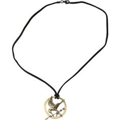 The World Of The Hunger Games Mockingjay Cord Necklace Hot Topic ($15) ❤ liked on Polyvore featuring jewelry, necklaces and cord necklace