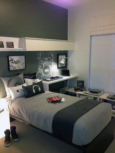 Top 70 Best Teen Boy Bedroom Ideas - Cool Designs For Teenagers - Top 70 Best Teen Boy Bedroom Ideas – Cool Designs For Teenagers Bedroom Designs For Teenagers Boys Men's Bedroom Design, Elegant Bedroom Design, Boys Room Design, Bedroom Wall Colors, Boys Bedroom Decor, Trendy Bedroom, Blue Bedroom, Boy Bedroom Designs, Teen Boys Room Decor