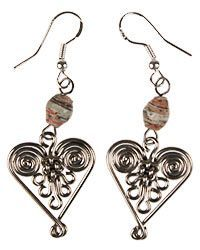 Recycled Magazine Healing Hearts Earrings at The Hunger Site