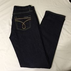"""NWOT CK Skinny Jeans NWOT Calvin Klein Skinny Jeans!! NEVER WORN, just took the tags off awhile back when I got them!! Size 4, never hemmed, 30"""" inseam, dark wash. Calvin Klein Jeans Skinny"""