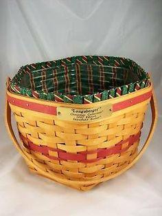 Longaberger small snow flake basket