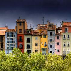'Paseo de Ronda' by idlphoto on flickr. Location: Pampalona, Spain. I love the TV antennas.