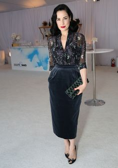 Dita Von Teese at the WWD And Variety inaugural stylemakers' event on November 19, 2015