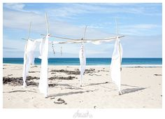 Love this beach wedding alter! Photo by Abigail K Photography http://abigailk.co.za/michael-margot-kleinmond-beach-wedding