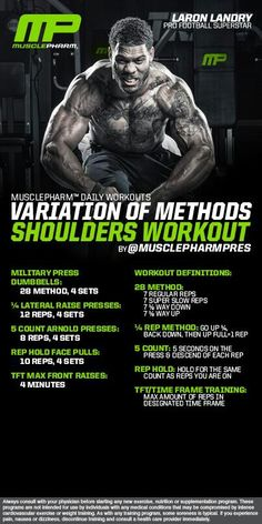 Muscle Pharm Shoulders Workout