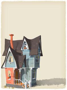 68 Ideas house illustration cartoon design reference for 2019 Art And Illustration, Building Illustration, Illustrations, Bg Design, Prop Design, House Design, Environment Concept Art, Environment Design, Sketches Arquitectura