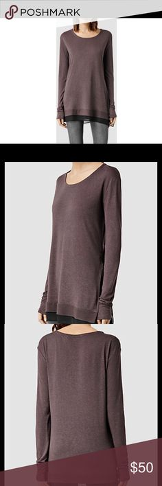 newest 217fa 85be7 All Saints Miro long sleeve tee Create a relaxed aesthetic without  compromising on style in this