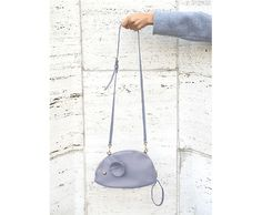 Crossbody Mouse Bag in Dust Blue