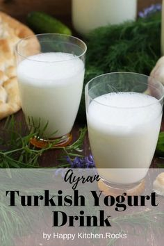 Ayran (also called doogh, Dhallë, or tan depending on locale) is not only super easy and quick to make, it's also delicious and refreshing! Vegetarian Comfort Food, Best Vegetarian Recipes, Vegan Dinner Recipes, Vegan Dinners, Yogurt Drink Recipe, Turkish Yogurt, Happy Kitchen, Light Recipes, Recipe Ready