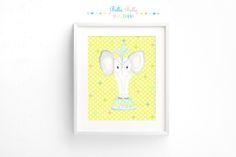 Printable Circus Elephant Print 8x10 by BellaBellaStudios on Etsy