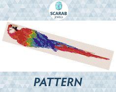 Loom Bead Pattern: Parrot Ara Bracelet / Cuff by ScarabJewels