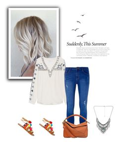 """""""Embroidered blouse"""" by gabriela2105 on Polyvore featuring moda, Velvet by Graham & Spencer, Dorothy Perkins, Decree y Loewe"""