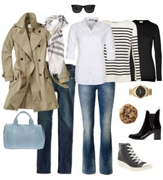 Ensemble: Classic Fall Casual - YLF (Leaving behind the wedge high-tops Source by Gilmelis fall Casual Dresses Fall Outfits For School, Casual Fall Outfits, Winter Outfits, Cute Outfits, Scarf Outfits, Outfits 2016, Casual Clothes, Classic Outfits, Fashion Clothes