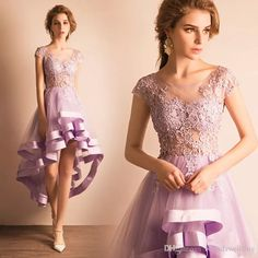 Light Purple Bridesmaid Dresses 2017 Cheap Prom Cocktail Party Dresses High Low Country Wedding Guest Formal Dress Beaded Tulle Junior Black Bridesmaid Dress Black Lace Bridesmaid Dresses From Belindawedding, $151.22| Dhgate.Com