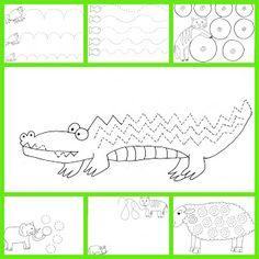 Pracovní listy pro děti: Grafomotorické listy - zvířátka