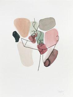 Minimalist art 78320481009144412 - Secrets Source by sakartonn Art Sketches, Art Drawings, Abstract Face Art, Abstract Portrait, Aesthetic Art, Art Inspo, Painting Inspiration, Line Art, Watercolor Art