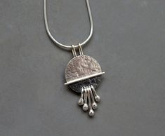 Sterling silver pendant sterling silver by Kailajewellery on Etsy