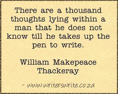 Writing and Author, William Makepeace Thackeray