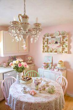 uma cozinha bem romantica...