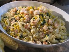 Fettuccine with Rock Shrimp, Corn, and Jalapeno, from Sara's Weeknight Meals and Dave Pasternak