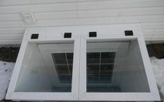 Vinyl Window Wells and Covers Photo Gallery Basement Window Well, Basement Steps, Basement Windows, Craftsman Front Porches, Bulkhead Doors, Bilco Doors, Family Room Walls, Egress Window, Basement Apartment