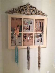 DIY Frame Jewelry Holder Antique Frames New Life