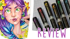REVIEW - Chameleon Pens + Speed Drawing