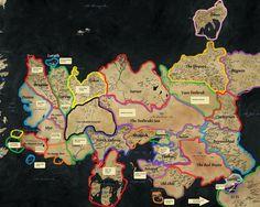 Map of Essos - Game of Thrones