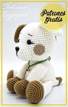 Crochet Animal Patterns, Crochet Patterns Amigurumi, Amigurumi Doll, Crochet Stitches, Amigurumi Free, Crochet Gratis, Crochet Panda, Crochet Baby Toys, Crochet Dolls