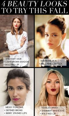 4 Beauty Looks To Try This Fall