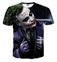 T-Shirts Womens Mens Print Joker Casual T Shirt Short Sleeve Graphic Tee Joker Outfit, Shirt Outfit, 3d T Shirts, Casual T Shirts, Cute Tshirt Designs, Joker T Shirt, Nike Men, Graphic Tees, Joker Clothes