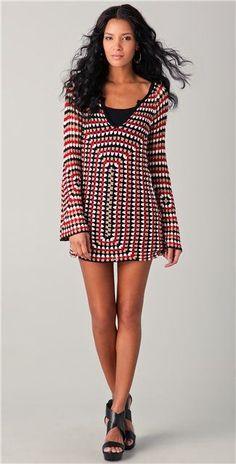 Crochetemoda: Tunik veya mini elbise tığ