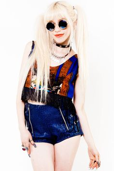 Fringe Tapestry Crop Top - XS/S/M