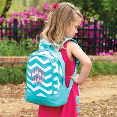 Personalized Preschool Backpack -- adorable!