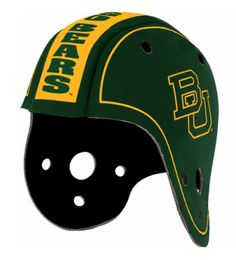 Baylor University Scuba Foam Rally Helmet // So old school!! This would be so fun to wear at games.