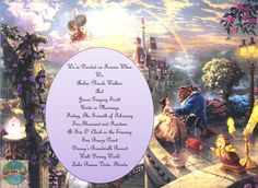 beauty and the beast invitations - Google Search